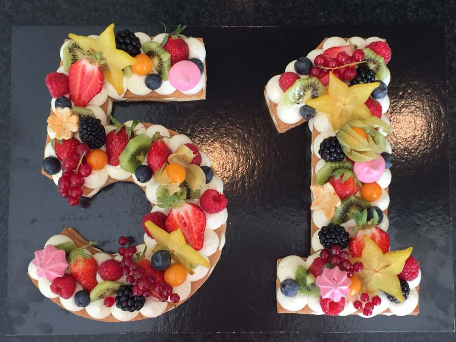 Number Cake vanille multifruits